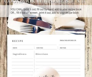 etsy, recipe card, and food journal image