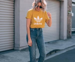 adidas, street, and white hair image
