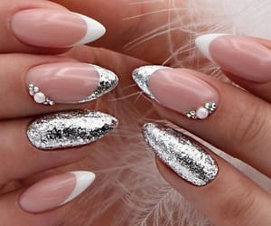 nails, silver, and beautiful image
