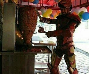food, heroes, and ironman image