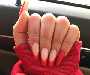 nails, red, and fashion image
