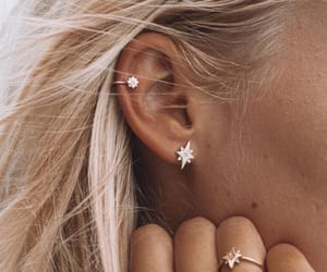 earrings, girl, and jewelry image