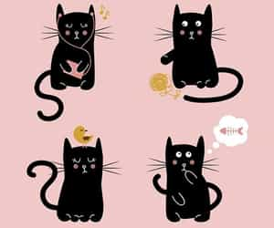 cats, cute, and pattern image