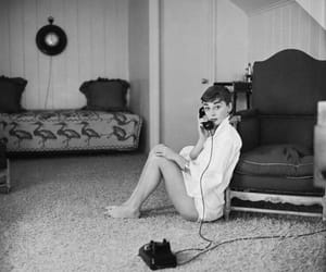 audrey, phone, and vintage image