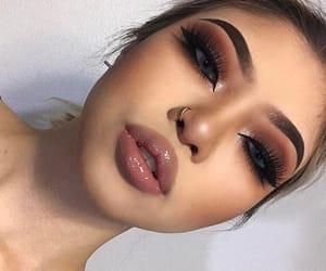 black, brown, and eyeshadow image