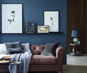cuero, azul, and sala de estar image