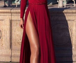 classy, dress, and red image