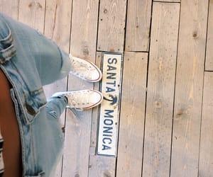 theme, santa monica, and jeans image