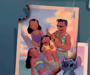 family, disney, and stitch image