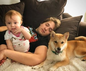baby, dog, and parx image