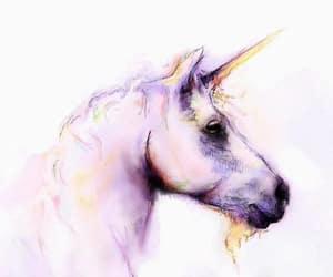 unicorn, art, and pink image