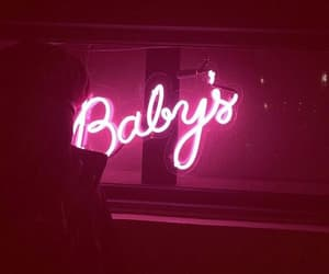 baby, neon, and pink image