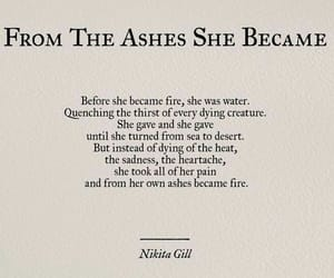 ashes, fire, and girl image