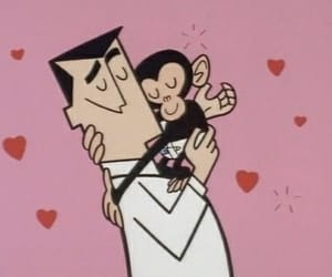 love, monkey, and cartoon image