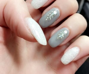 gray, ongle, and gris image