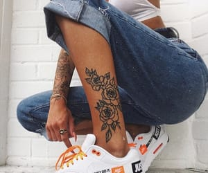 tattoo, nike, and jeans image