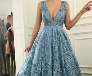 v neck prom dresses, lace evening dress, and v-neck prom dresses image
