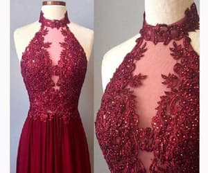 long prom dresses, high neck evening dress, and custom prom dresses image