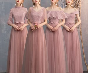 beautiful dress, girl, and bridesmaid dress image