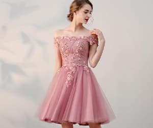 pink homecoming dress, short homecoming dress, and prom dresses a-line image