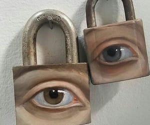 eyes, art, and lock image