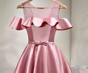 pink homecoming dress and a-line prom dress image
