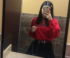 black, chain, and emo image