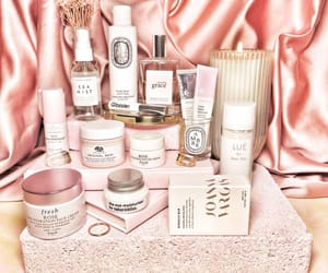 pink, skincare, and satin image