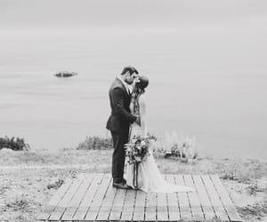 big sur, bride, and couple image