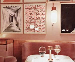 art, red, and restaurant image