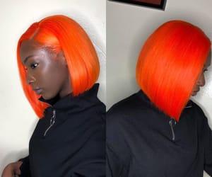 dyed, hair, and orange image