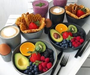 food, coffee, and fruit image