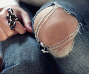 fashion, jeans, and ring image