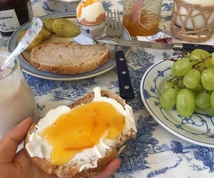 bread, food, and grape image