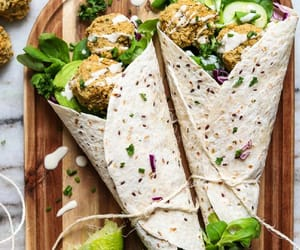 falafel, food, and green image