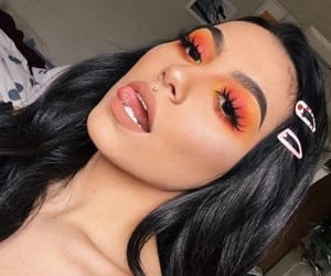clips, makeup, and orange image