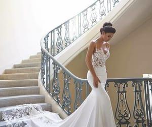 wedding, dress, and girl image