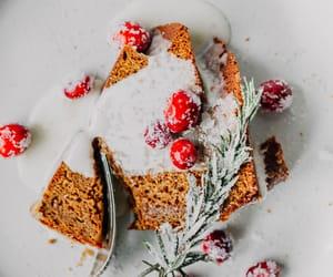 cake, rosemary, and sugared rosemary image
