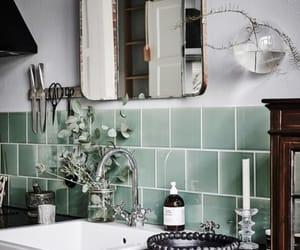 bathroom and green image
