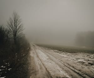 country road, dark, and dirt road image