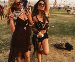 coachella, friends, and festival image