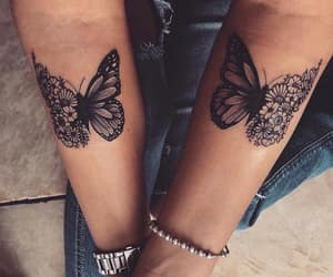 tattoo, butterfly, and tattooed image