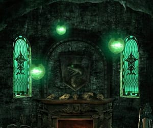 black, house, and slytherin image