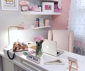 decoration, office, and pink image