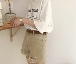 fashion, outfit, and beige image