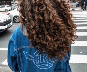 hair, curly hair, and curls image