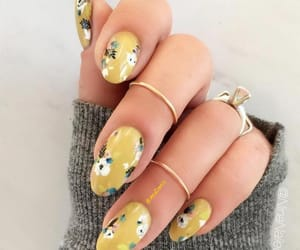 floral, nail art, and rings image