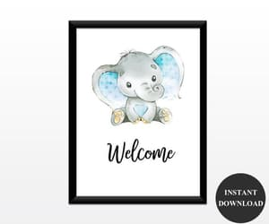 etsy, boy baby shower, and welcome signs image