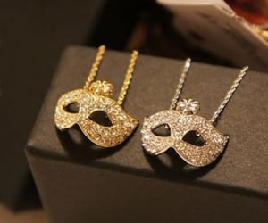 mask, necklace, and accessories image
