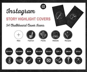 chalkboard, social media icons, and etsy image
